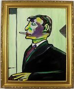 Picasso Portrait Picasso Colour Profile Oil Painting Framed Early Macdonald
