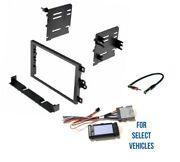 D Din Bose+no Bose Amp+chime+acc Car Radio Kit Dash Combo For Some Gm Vehicles