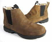 Bearpaw Menand039s Larkin Ii Ankle Boots Cognac Leather Us Size 9 M Pre-owned