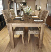 240cm Reclaimed Teak Dining Table With 10 Chairs Of Any Style