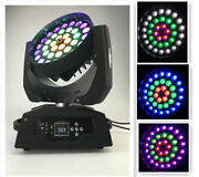 New 36x18w Led Zoom Moving Head Light Rgbwauv 6in1 Color Section Control Dmx