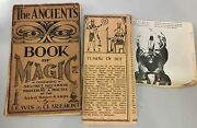 Ancients Book Of Magic 1940's Lewis Claremont Plus Temple Of Set Brochure Occult