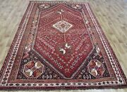 Old Hand Made Traditional Persian Rug Oriental Wool Red Cream Rug 9x6 Feet