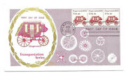 1898a 4c Stagecoach 1890s Colonial, Strip Of 3, Fdc