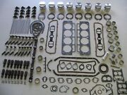 Deluxe Engine Rebuild Kit 63 64 65 Buick 425 V8 New With Pistons And Rocker Arms
