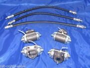 4 Wheel Cylinders, Brake Hoses 46 47 48 Chevrolet Chevy Cars 1946 1947 1948