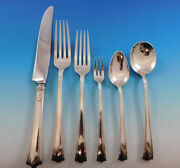 American Directiore By Lunt Sterling Silver Flatware Set Service 43 Pcs Dinner