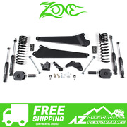 Zone Offroad 4 Radius Arm Suspension System Lift For 14-18 Dodge Ram 2500 Gas