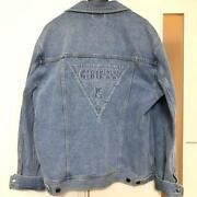 Guess Japan Exclusive Design Denim Jacket Men M Limited Edition Very Rare Casual