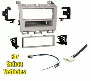 Gray Single Din Radio Kit Combo For Some 2009 2010-2014 Nissan Maxima -clearance