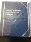 Whitman Lincoln Cents Album 1909-1940 With 75 Wheat Pennies And 1909 Vdb