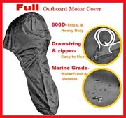 600d Heavy Duty Boat Full Outboard Engine Motor Cover Fit 60-90hp All Weather