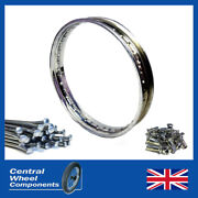 Wm1 Greeves Stainless Steel Wheel Rim And Spokes Set 19x1.60 40 Paddle Hub Front
