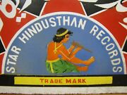 Old Porcelain Star Hindusthan Records Sign Record Store Display India Trade Mark