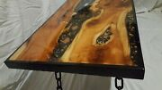 Stunning Epoxy Resin River Coffee Table Trunk Chest Yew Bespoke One Of Kind