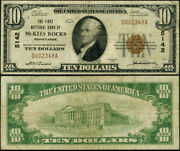 Mckees Rocks Pa-pennsylvania 10 1929 T-1 National Bank Note Ch 5142 Fnb Fine