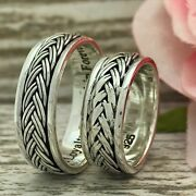 6mm His And Her 925 Sterling Silver Wedding Rings Personalize Engrave Ring