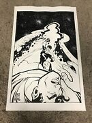 Superman Punched Original Art Done By Ethan Slayton And Inked By Mike Sellers