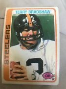 1978 Topps Terry Bradshaw Pittsburgh Steelers 65 Football Card