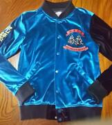 Punk Drunkers Cross Bomber Jacket For Men Pds Size M Blue Very Rare From Japan