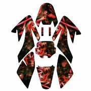 Graphics Decal Stickers For Honda Crf70 Sdg Ssr 107 110 125 Dirt Bike Red
