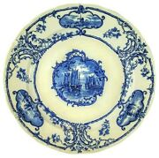 Antique Delft Plate By B W M And Co Made In England 1800's