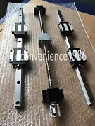 Hsr25-500/1500/2200mm Liner Rail And Rm2505-500/1500/2200 Mm And Bk20/bf20 Kit