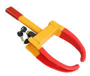 Yellow/red Wheel Clamp Anti-theft Lock For Car Truck Trailer Atv Motorcycle