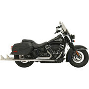 Bassani 1s96e-36 36 Chrome Dual Fishtails Exhaust Harley 18-19 Heritage Deluxe