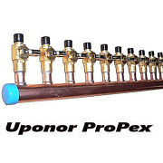 1 Copper Manifold 3/4 Pex Uponor Propex With And Without Ball Valve 2-12 Loop