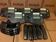 Lot Of 5 Polycom Soundpoint Ip 650 Ip650 2201-12630-001 Phone W Stand Handset