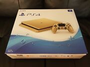 Sony Playstation 4 Slim [limited Edition] 1tb Gold Console [ps4] [brand New]