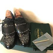Churchand039s Studded Shoes Women Ladies Us 7.5 7 1/2 Black Rare From Japan
