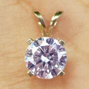 0.50ct Genuine Gia Certified Si2 G Diamond Solid White 14k Gold Pendant Necklace