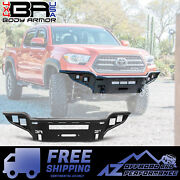 Body Armor 4x4 Desert Series Front Winch Bumper Fits 2016-2021 Toyota Tacoma