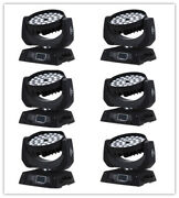 6pc 36x18w Rgbwa Uv 6in1 Moving Head Light Zoom Led Moving Head Light For Stage