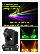 New 8+16 Prism Rainbow Effect Glass Gobo 230w 7r Beam Moving Head Stage Light