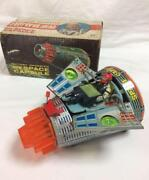 Buttery Operated New Space Capsule Rocket Vintage Tin Toy Made In Japan Rare F/s