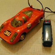 Porsche Remote Control Car Vintage Tin Toy Rare From Japan Free Shipping