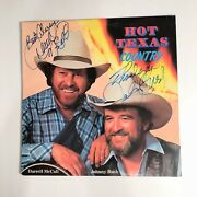 💲make Offer💲darrell Mccall And Johnny Bush Signed/autographed Record Album