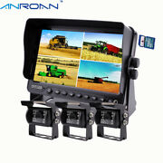 7 Dvr Monitor Camera System Ccd Night View Backup Cameras For Truck Trailer Rv