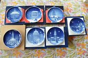 Lot Of 7 Bing And Grondahl Christmas In America Plates 1986 -1992