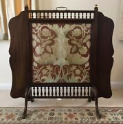 english Arts And Crafts Influenced Tapestry And Fireplace Screen