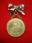 New Jersey Civil War Veteranand039s Medal 1861-1865 -converted For Lady To Wear -nice