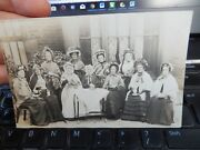 Old Ladies Take Tea With Amazing Hats Private Photo Portrait Postcard