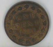 Canada 1886 One Cent Iccs Certified Au-55 Obverse 2