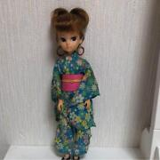 Licca Chan Doll 1st Model Edition Yukata Festival Up Style Curly Hair Very Rare
