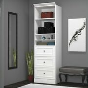 Bestar Versatile 25and039and039 3-drawer Storage Unit In White