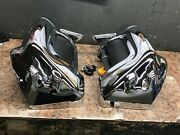 Harley-davidson Vented Fairing Lowers Used Chrome 83-13 Touring Models