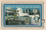 America's Obsolete Coin Collection Set Of 4 Coins Ooak